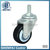 "2""Black PU Threaded Stem Swivel Caster Wheel"