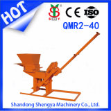 ISO Certification Qmr2-40 Manual Compressed Earth/Soil/Clay Non-Fired Interlocking Block Machine