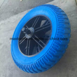 325-8 Solid Rubber Flat Free PU Foam Wheel