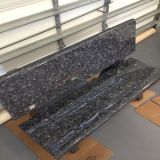 Natural Polished Blue Pearl Granite Stone Park Bench for Garden/Park