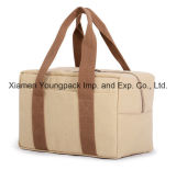 Promotional Custom Natural Cotton Canvas Tote Cooler Bag