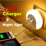 Mini Creative Motion Sensor Dual USB Charger LED Night Light