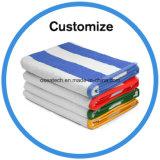 cotton Jacquard Beach Towel with Logo