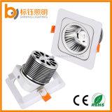 Square Aluminium Shell COB Light 15W Ceiling Lighting 85-265V LED Spot Lamp