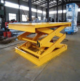 6.5m Height Stationary Hydraulic Scissor Cargo Lift Table