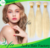 7A Grade Indian Virgin Blond Double Drawn Human Hair Weft