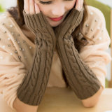 Fashion Colorful Long Arm Warmers, Knitting Pattern Wool Hand Warmer Gloves Wholesale
