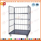 Warehouse Stackbale Metal Steel Storage Cage Roll Trolley Container (Zhra35)