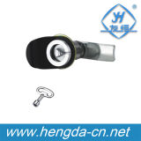 Quarter Turn Triangle Cylinder Cabinet Cam Lock with Plastic Cover (YH9757)