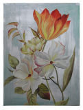 Handmade Canvas Flower Oil Painting for Home Decorative