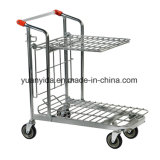 Nestable Stock Trolley with Folding Shelf