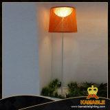 Modern Aluminium+ PMMA+Fiber Floor Lamp White Fabric Lampshade (2158F2)