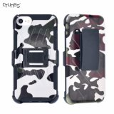 Camouflage Hyper Shock Hybrid Dual Layer Kickstand Holster Belt Clip Case for iPhone 8 Plus