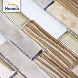 Latest Designed Backsplash Decorative Strip Glass Stone Aluminium Mosaic Tile