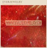 Red Shiny Hot Fix Crystal Mesh Sheet
