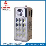 Portable Rechargeable LED Emergency Light with FM Radio