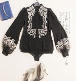 Customized Female Shirt Made of Silk Embroidery Fashion Clothing