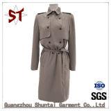 Fashion Windbreaker Polo Collar Ladies Dust Coat