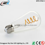 E27 E26 ST64 4W LED Filament Bulb by China manufacture with CE approved