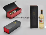 Logo Stamping UV Coating Rigid Cardboard One Bottle Wine Box