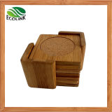 Bamboo Cup Mat Cork Coaster Set with Holder