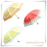 Promotion Gift of Fashion 3 Folding Umbrella with Painted Fruit