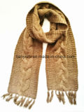Cashmere Lady′s Winter Scarf Hand Knit