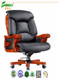 Swivel Leather Executive Office Chair with Solid Wood Foot (FY9012)