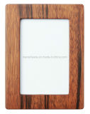 Walnut Semi-Glossy Wooden Art Craft Photo/Picture Desk Frame with Glass Window
