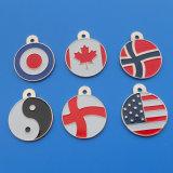 Custom Country Flag Pet Tag Dog ID Tag (ASNY-DT-TM-013)