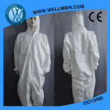 Disposable Safety Blue Coverall/SMS Coverall/PP+PE Coverall/Overall