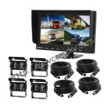 "12V-24V 4pin CCD Reversing 4X Camera & 7"" Split Quad Rear View TFT LCD Monitor"
