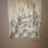European Virgin Remy Blonde Color Clip in Human Hair Eextension