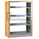 Factory Wholesale School Library Shelf Adjustable Single Side Book Rack Single Bay 4 Layers