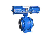 Pneumatic Metal Sealing Flange Ball Valve (Q647H)