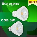 Ultra Long Lifetime Ce GU10 6W COB LED Spotlight