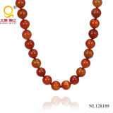 Simple New Design 16mm Red Agate Necklace Costume Jewelry
