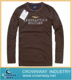 Customized Printing Brown Stainless T-Shirt with High Quality (CW-LMTS-6)