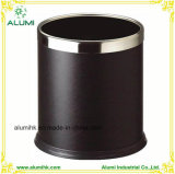 Hotel Leather Double Layer Trash Can