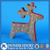 Wooden Christmas Deer with LED Light