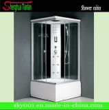 Square Computer Panel Corner Glass Steam Shower Enclosure (TL-8813)