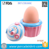 Fancy Cake Style Egg Placement Ceramic Egg Cup