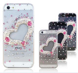 Heart-Shaped Bling Flash Case for iPhone 4/4s