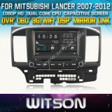 Witson Car DVD for Mitsubishi Lancer 2007-2012 Car DVD GPS 1080P DSP Capactive Screen WiFi 3G Front DVR Camera