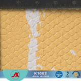 Composite PVC Leather Material, Finished Faux Snake Skin Leather