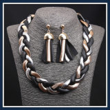 New Item Steel Snack Chain Fashion Earring Necklace Jewelry Set