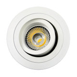 Lathe Aluminum GU10 MR16 Round Recessed Tilt Spotlight (LT2302B)