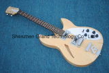 Natural Semi Hollow Rickenback 360 Electric Jazz Guitar (GR-13)