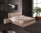 Hotel Bedroom Furniture Modern Leather Bed (J075)