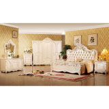 Classic Bedroom Furniture Set with Antique Bed and Wardrobe (W809)